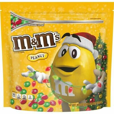 * M&M's Peanut Chocolate Candy Party Size 38 Ounces