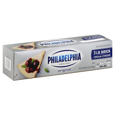 * Philadelphia Cream Cheese Loaf 3 Pounds
