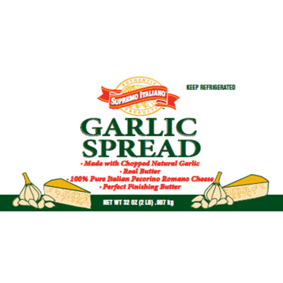 * Supremo Italiano Garlic Spread 2 Lb Tub