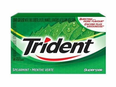 * Trident Spearmint Gum 14 Pc