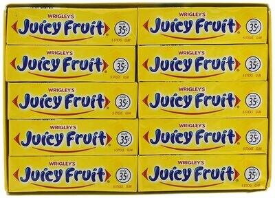 * Wrigley's Juicy Fruit Gum 40-5 Stick Packs