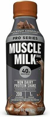 * Muscle Milk Pro Series Knockout Chocolate 12-14 Ounces Plastic Bottles