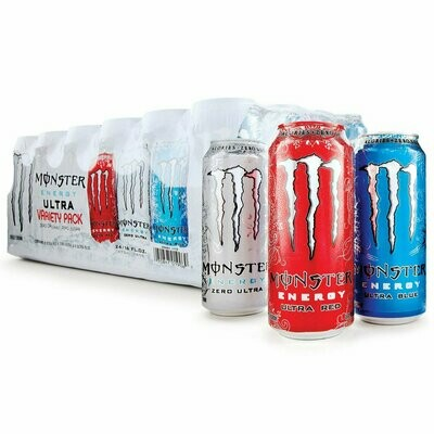 * Monster Energy Drink Ultra Variety Pack 24-16 Ounces Cans