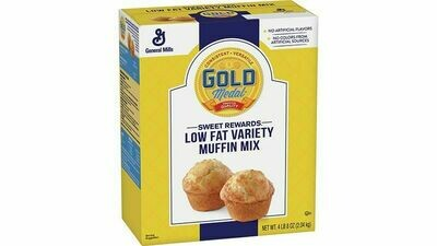 * General Mills Low-Fat Variety Muffin Mix 4.5 Pounds