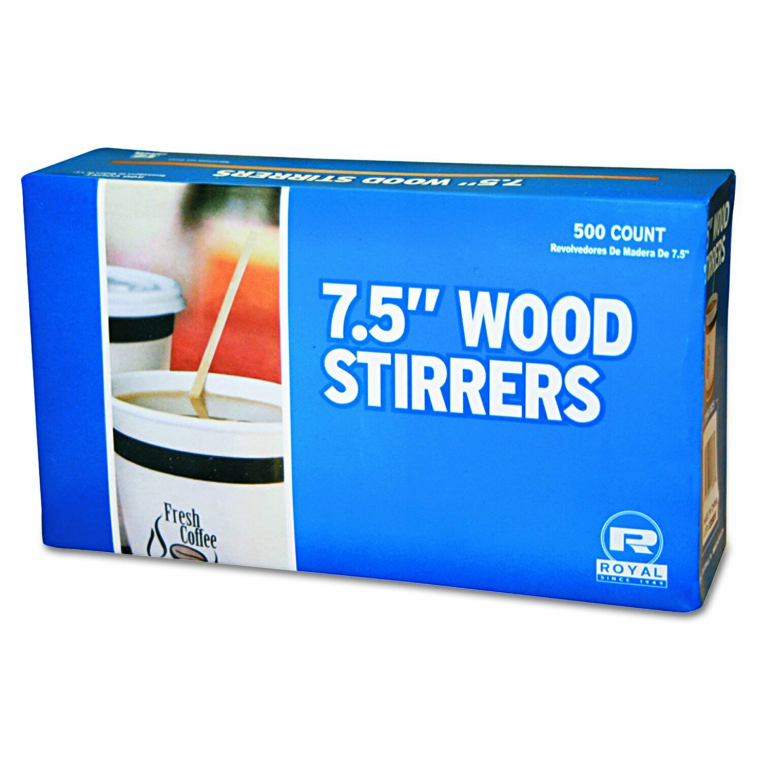 """* 7 1-2"""" Wood Coffee Stirrers 500 Count"""