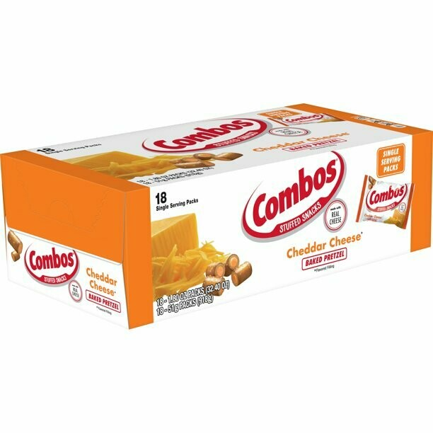 * Combos Baked Cheddar Cheese Pretzel Snack 18 Count