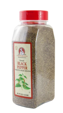* Chef's Quality Black Pepper Cafe Grind 16 Ounces