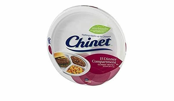 """* Chinet Classic White 10 1-2"""" Plate Vanilla"""