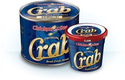 * Blue Swimming Crab, Claw Meat 1 Pound Can