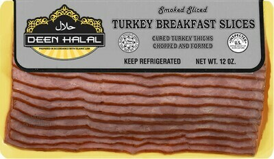 * Deen Halal Sliced Turkey Bacon 12 Ounces