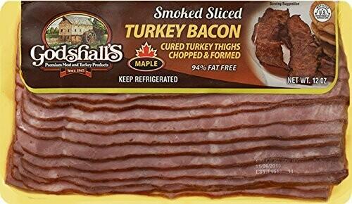 * Godshall's Maple Turkey Bacon 12 Ounces