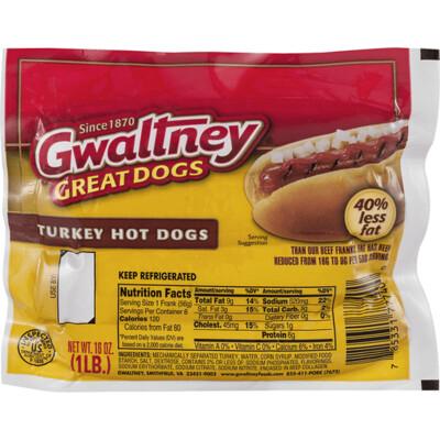 * Gwaltney Turkey Franks 1 Pound