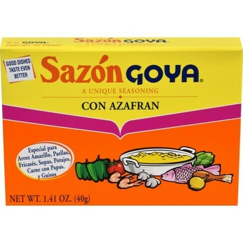 * Goya Sazon Con Azafran 8 Count Box