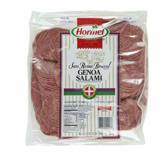 * Hormel Sliced Genoa Salami
