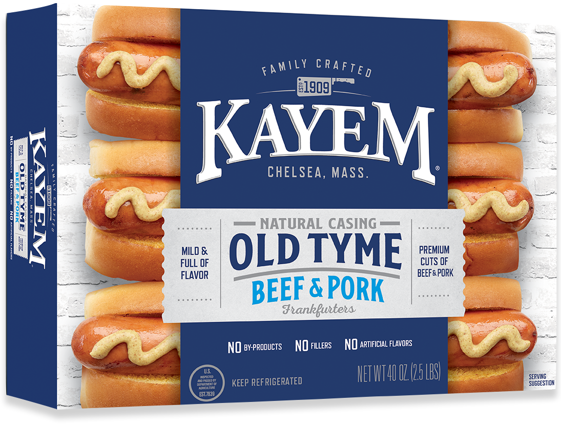 * Kayem Old Tyme Natural Casing Beef Franks 2.5 Pounds