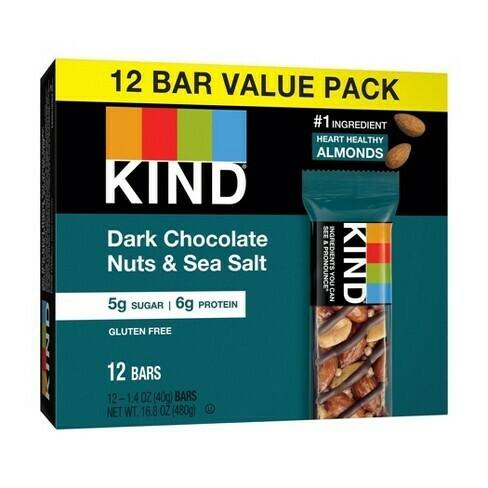 * Kind Dark Chocolate Nuts & Sea Salt Bars 12-1.4 Ounces