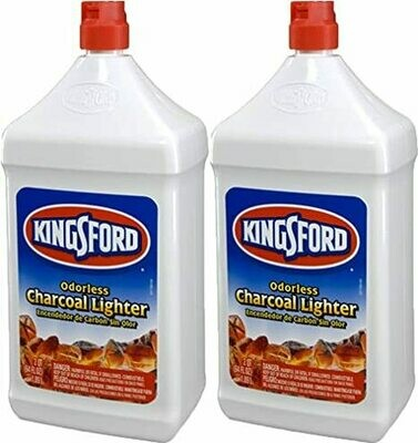 * Kingsford Odorless Charcoal Lighter Fluid 2 Pack 64 Ounces Bottles