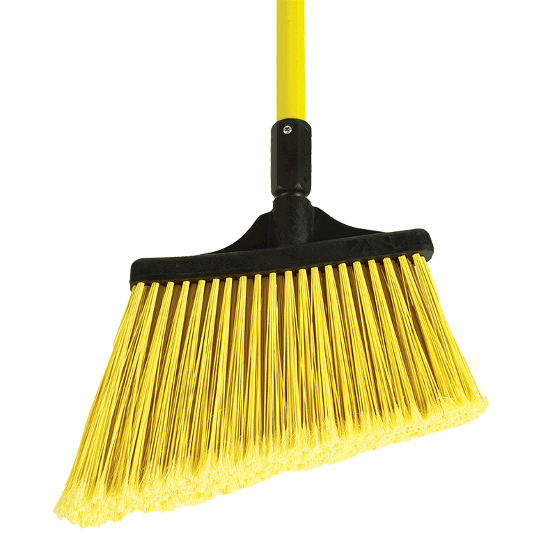 * O-Cedar Maxisweep Angle Broom, Yellow, Flagged