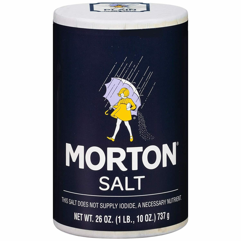 * Morton Plain Salt 26 Ounces