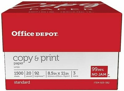 * Office Depot Copy And Print Paper, Letter Size (8.5