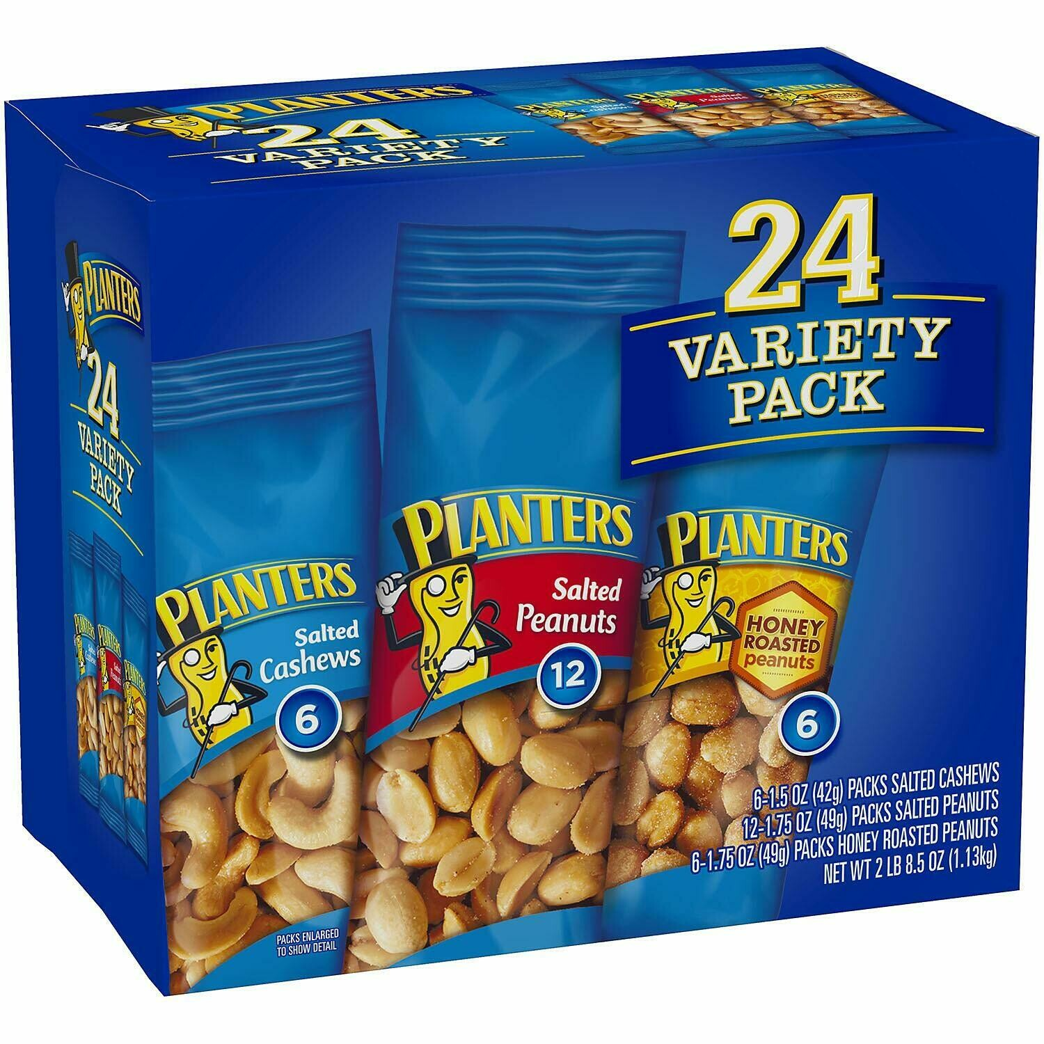 * Planters Variety Nuts Pack 24 Count 40.5 Ounces