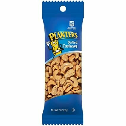 * Planters Salted Cashews Tube 48 Count