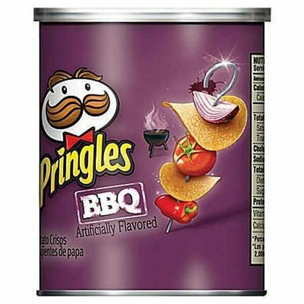 * Pringles BBQ Crisp Potato Chips 12-1.4 Ounces