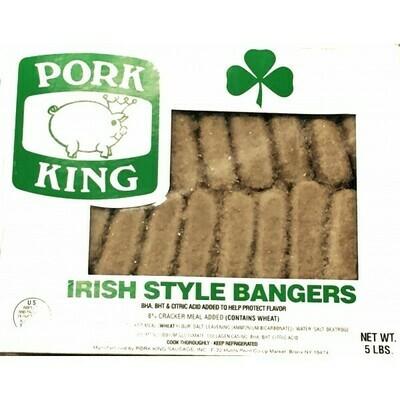 * Pork King Irish Bangers Sausage 5 Pounds