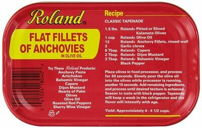 * Roland Spanish White Anchovies In Oil 2.2 Pounds