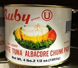 * Ruby Chunk White Tuna 66 Ounces Can