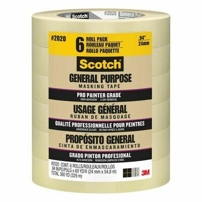* Scotch Brand Masking Tape 6 Pack