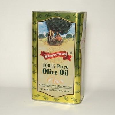 * Supremo Italiano 100% Pure Olive Oil 3 Liter Can