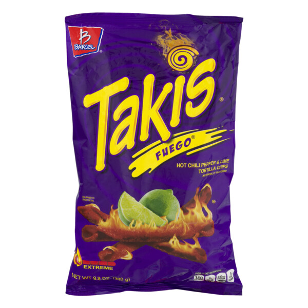 * Takis Fuego Chips 12-9.9 Ounces Bags