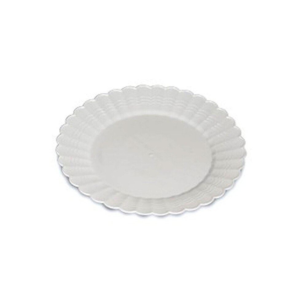 """* Yoshi- Resposable 10.25"""" White Dinner Plastic Plate 50 Count"""