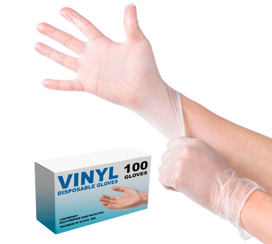 * Sunset Smooth Touch Latex Gloves Without Powder, Size Large 100 Count