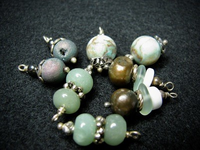 Stone Beads in Greens