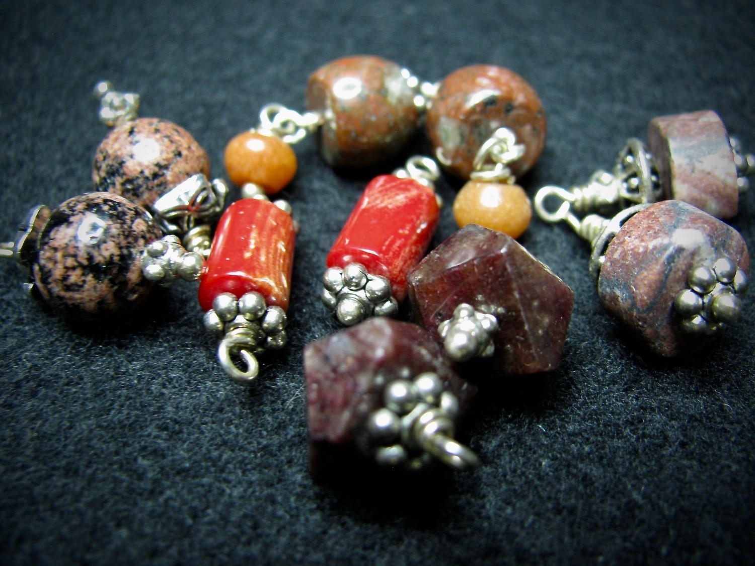 Red Family of Beads