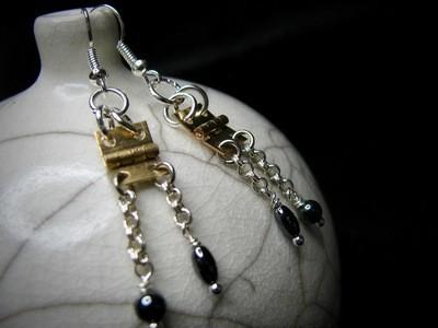 Brass Hinge Earrings