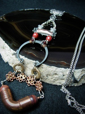 Hardware Necklace Featuring Copper Pipe