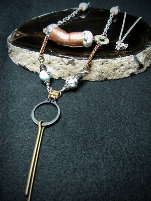 Hardware Necklace with Cotter Pin