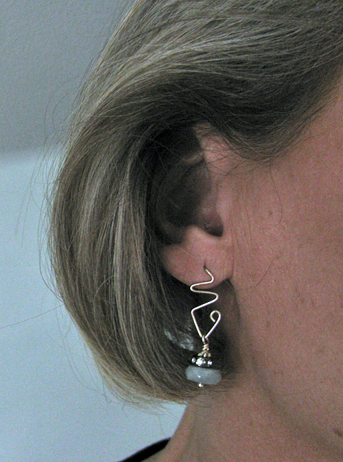 Free Form Sterling Wire Post