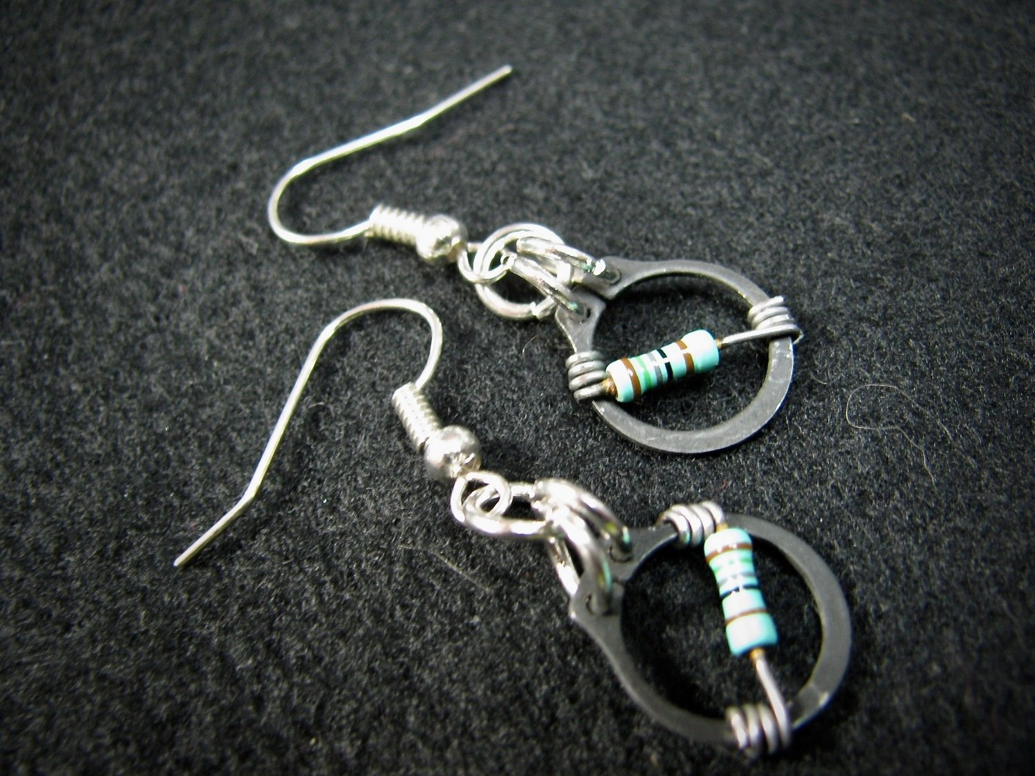 O Clamp Earrings with Resistors