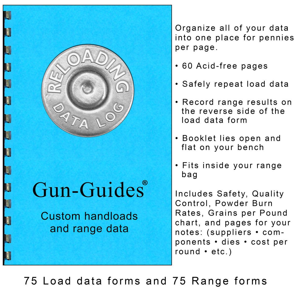 Reloading Data Log by Gun-Guides®