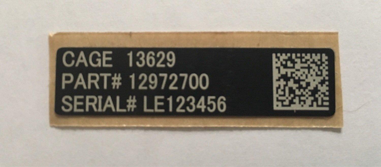 "Custom UID tag for M4 Carbine & M16 1.75"" x 0.45"""