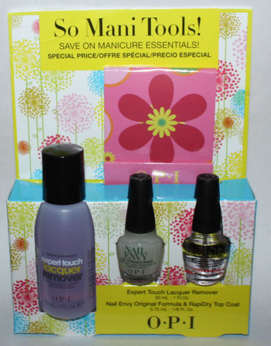 OPI So Mani Tools! Nail Envy/Rapidry/Lacquer Remover/Nail File Matchbook/Wipes
