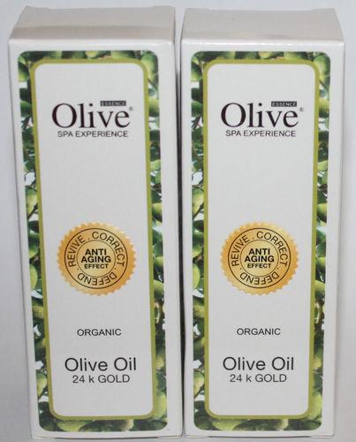 Lot Of 2 Olive Essence ORGANIC 24K Gold Olive Oil 1 oz Each
