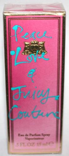 Juicy Couture PEACE, LOVE, & JUICY COUTURE Eau De Parfum Spray .5 oz