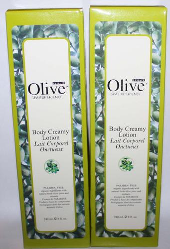 Lot Of 2 Olive Essence Body Creamy Lotion 8 oz Each
