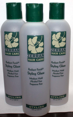 Lot Of 3 Zerran Radiant Finish Medium Hold Styling Hair Glaze 8 oz Each *Reduced*