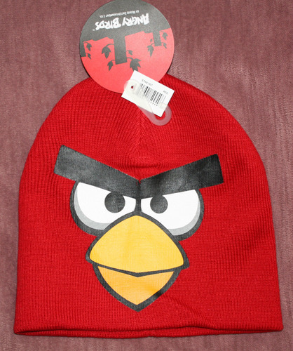 ANGRY BIRDS Boy's Red Graphic Beanie Cap (One Size)